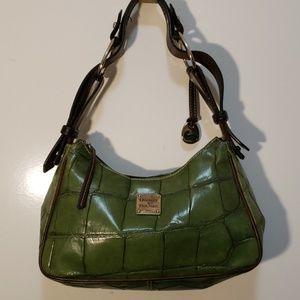 Dooney & Bourke Green Croc Leather Shoulder Bag